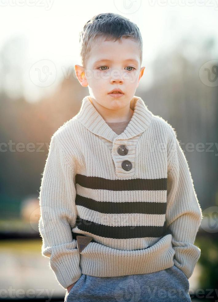 niño retrato hermoso niño pequeño foto