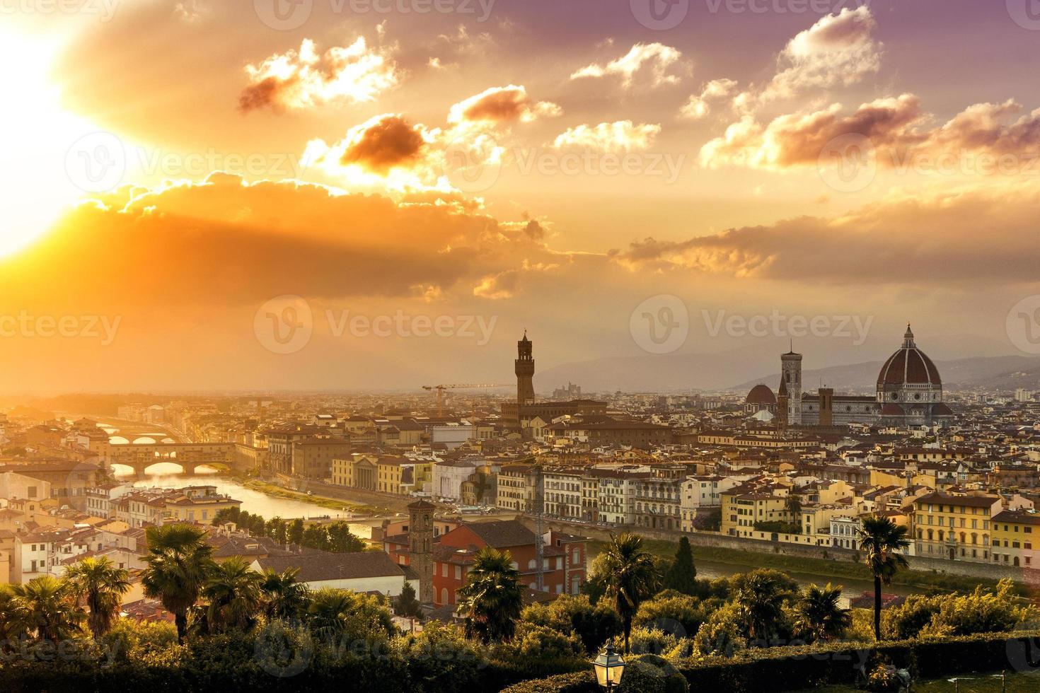 Florence sunset photo