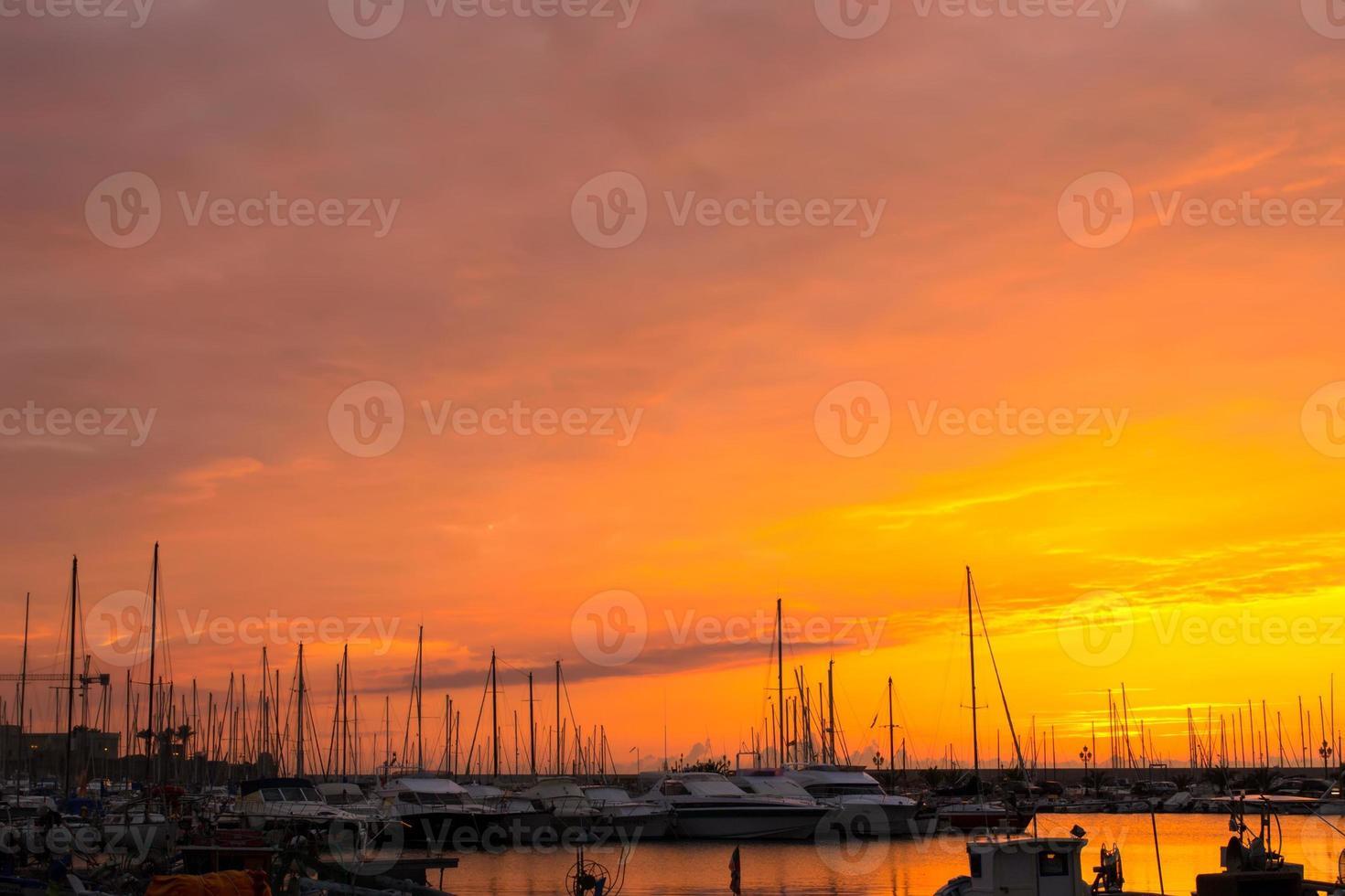 alghero puesta de sol foto