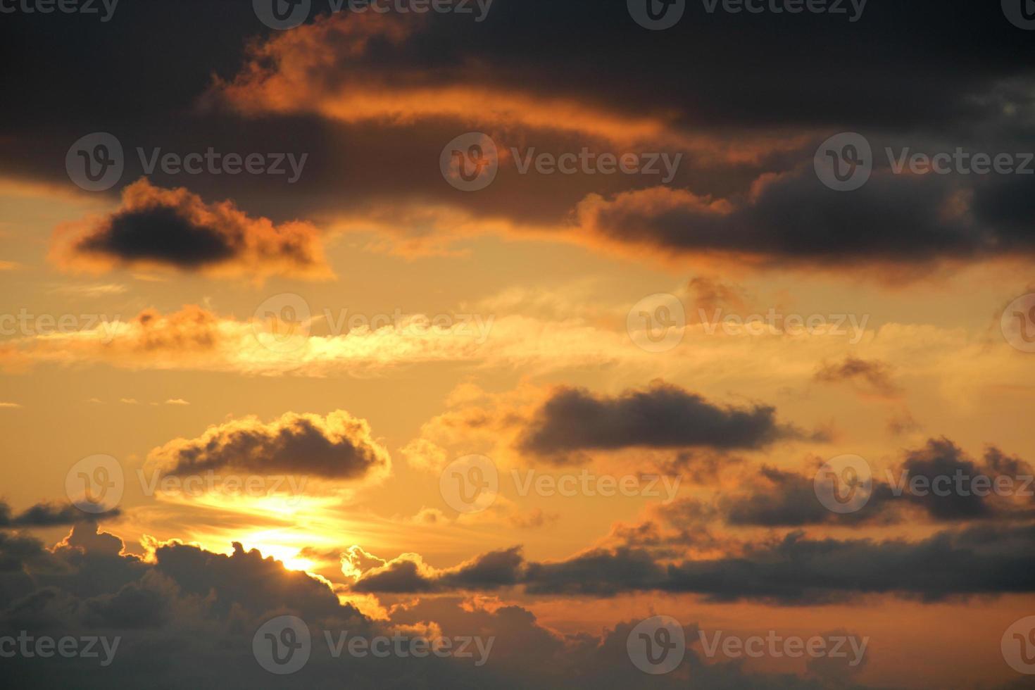 cielo del atardecer foto