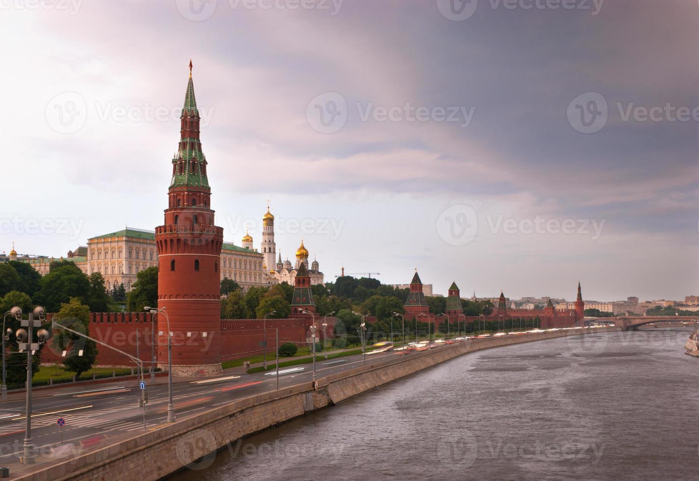 Rainy clouds over Moscow photo