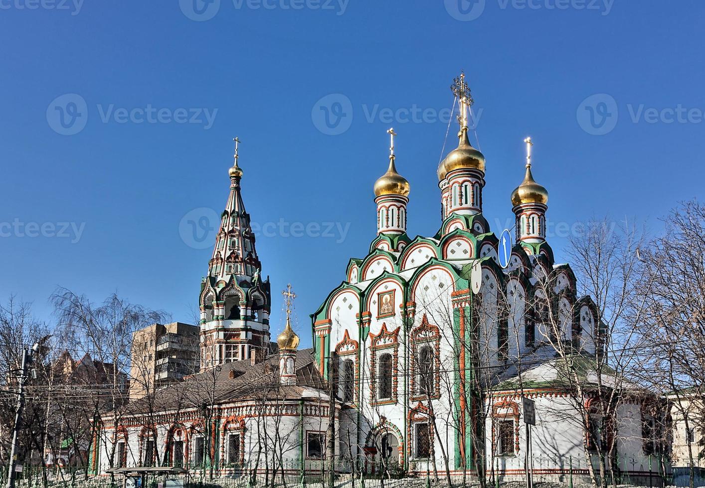 Church of Saint Nicholas in Khamovniki, Moscow, Russia photo