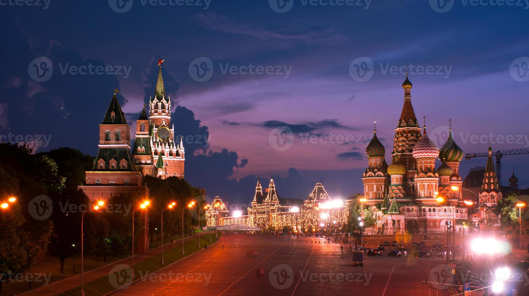 The sky of night Moscow photo