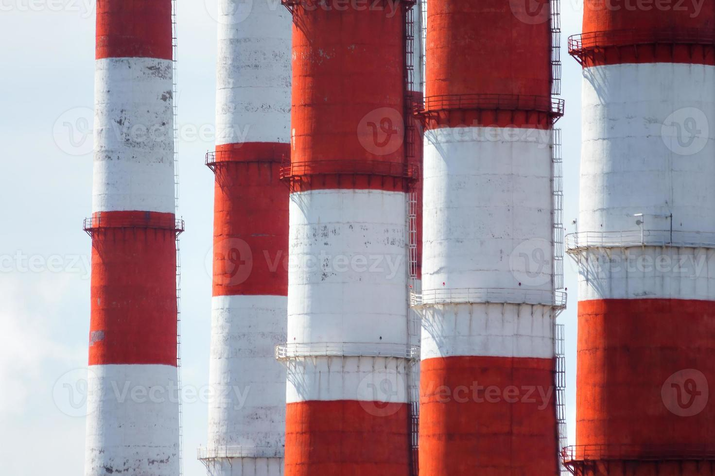 Red and white pipes photo