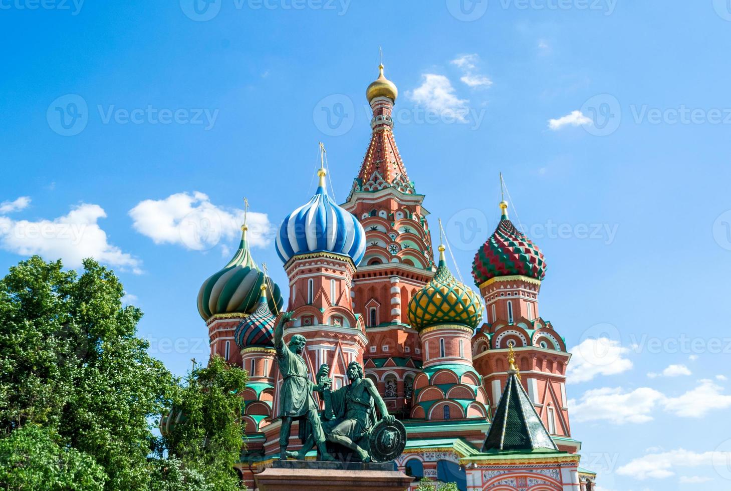 Saint Basil Cathedral at the Red Square of Moscow photo