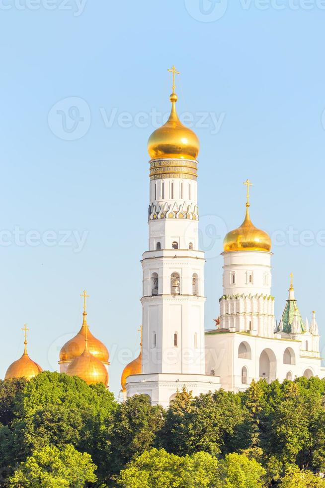 golden domes of Orthodox churches in Moscow photo