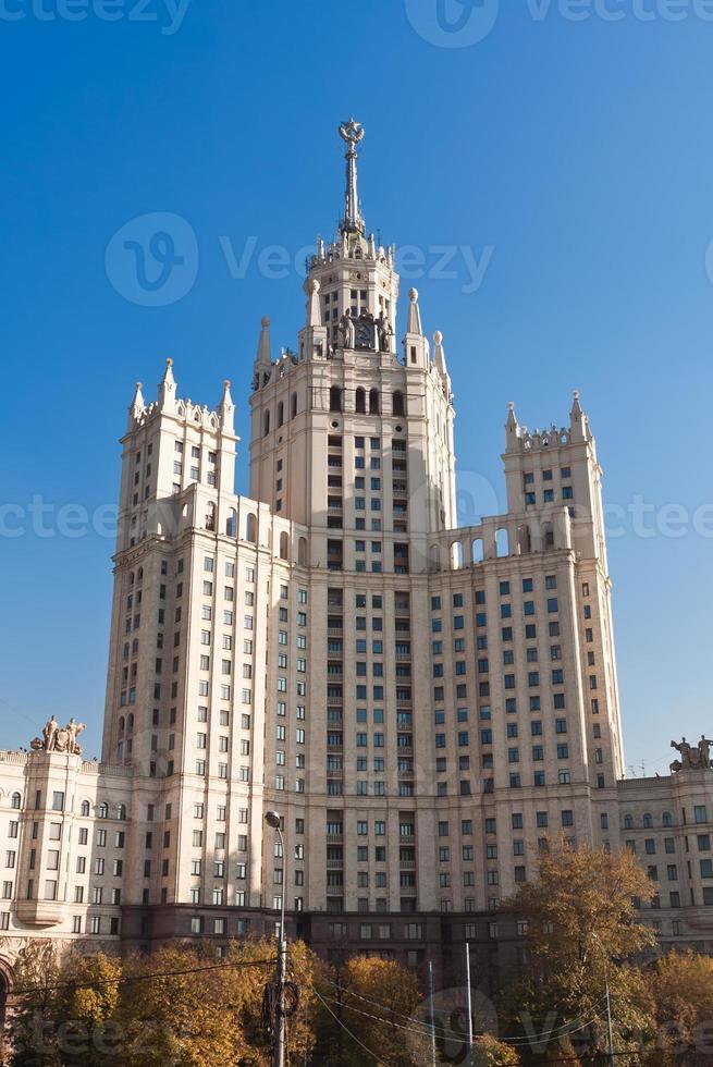 edificio del terraplén de kotelnicheskaya foto