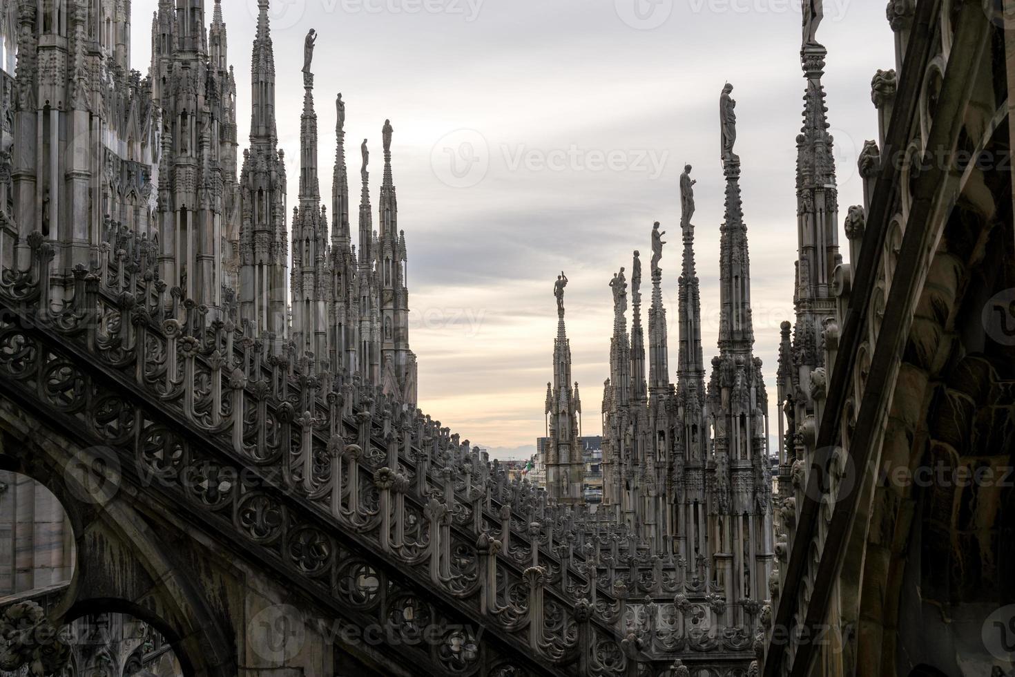 Milan Duomo rooftop photo