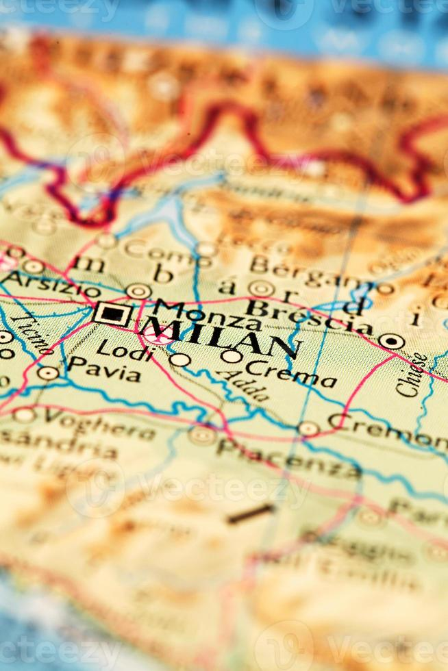 Milán en el mapa foto