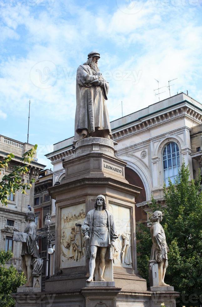 Leonardo da Vinci Monument,  Milan photo