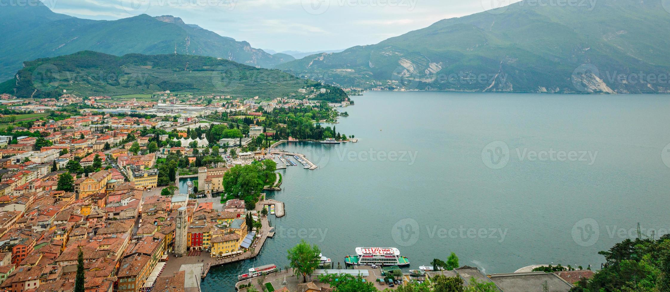 Lake Garda, Riva del Garda, HD panorama collage photo