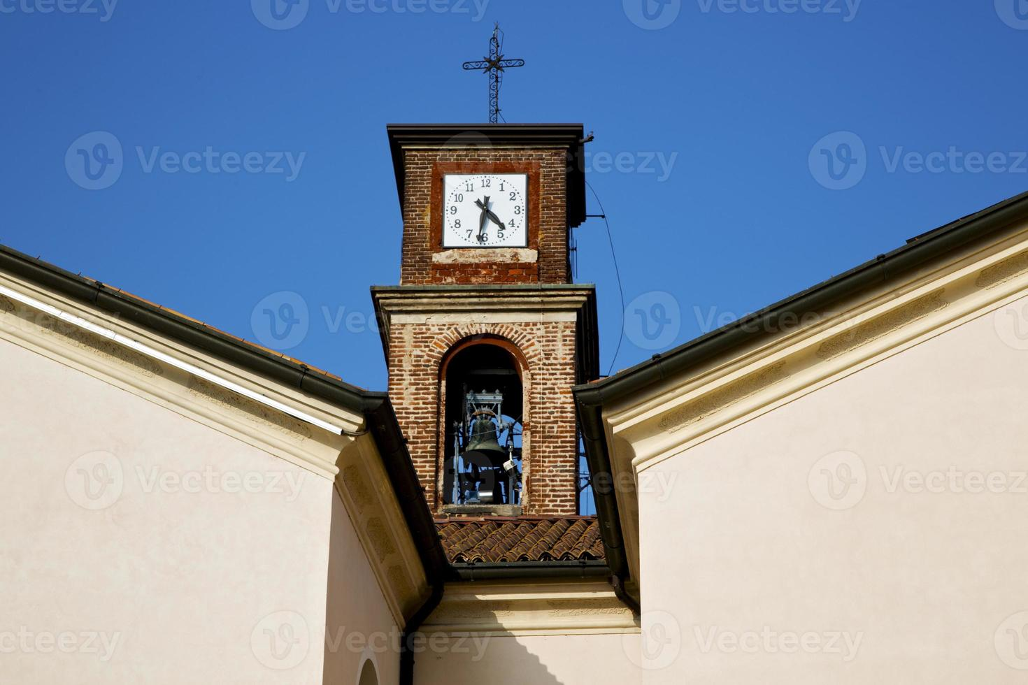 mozzate   old abstract in   tower bell sunny day milan photo