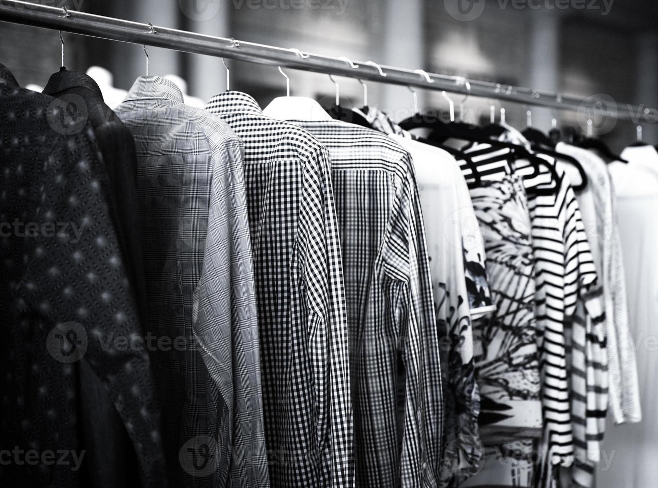 Men's Shirts on Clothes Rack photo