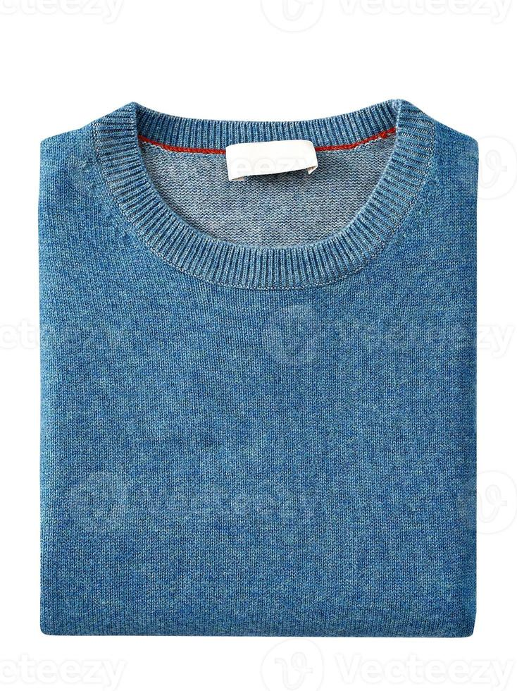 suéter para hombre aislado en blanco. con un trazado de recorte foto