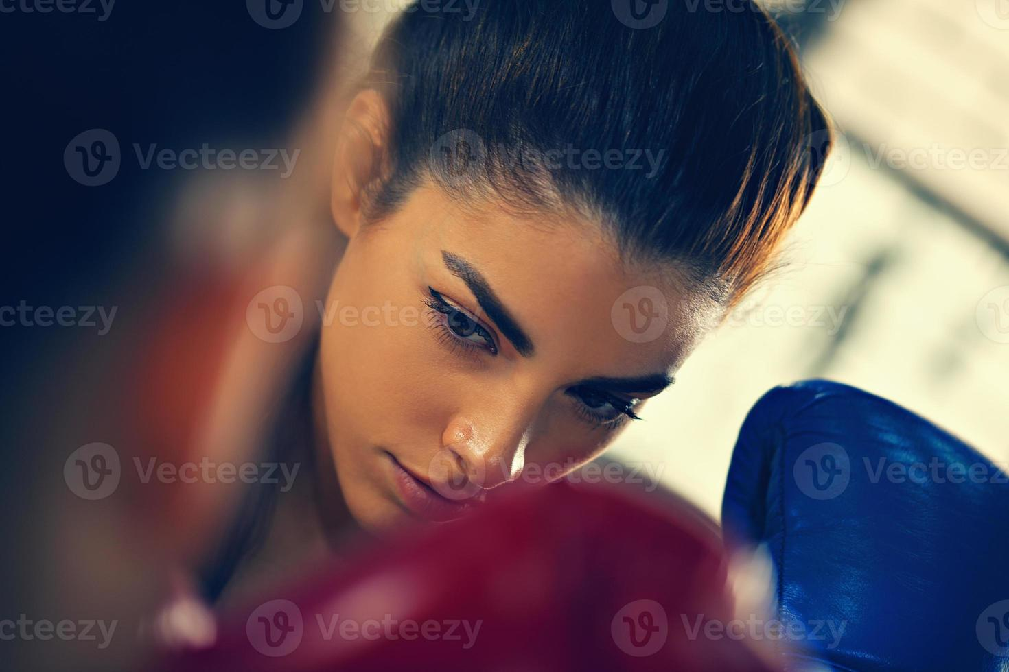 Two Females Sparring photo