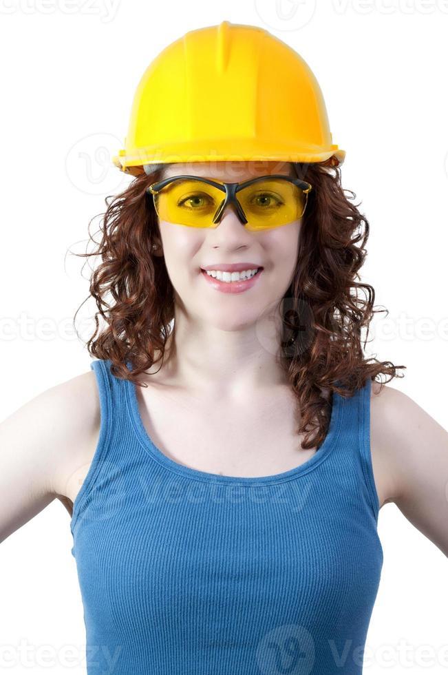 trabajadora de la construcción foto