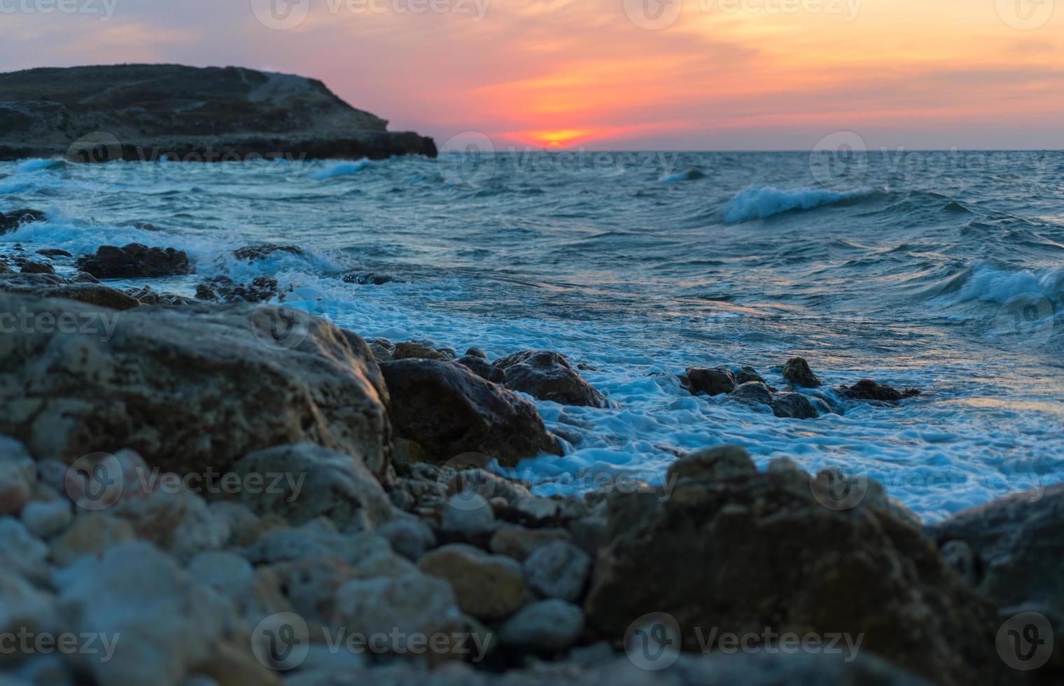 sunset at sea photo