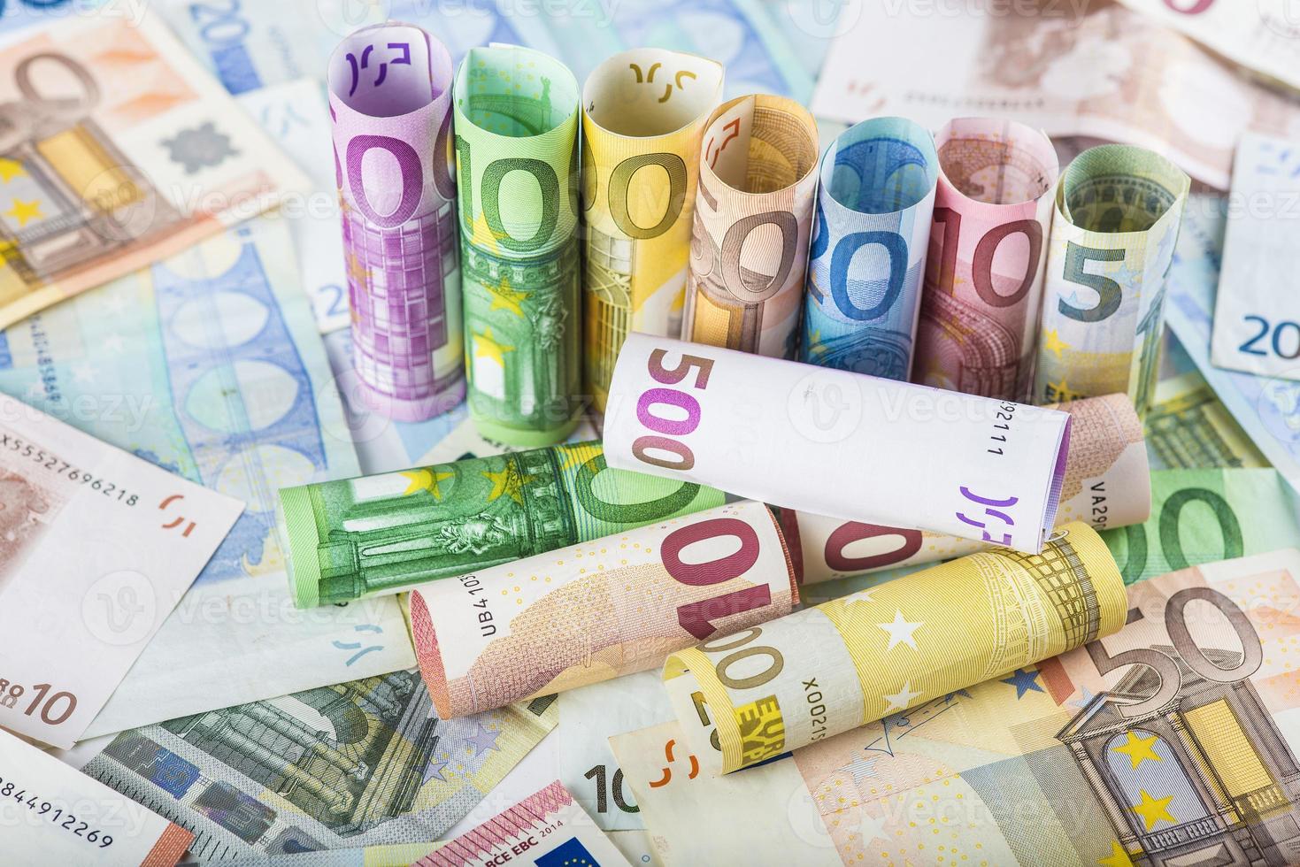 Fondo de dinero europeo foto