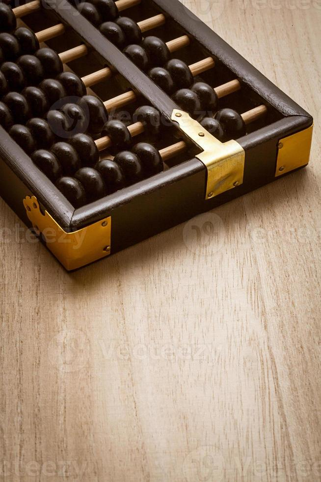 Abacus on a wooden floor photo