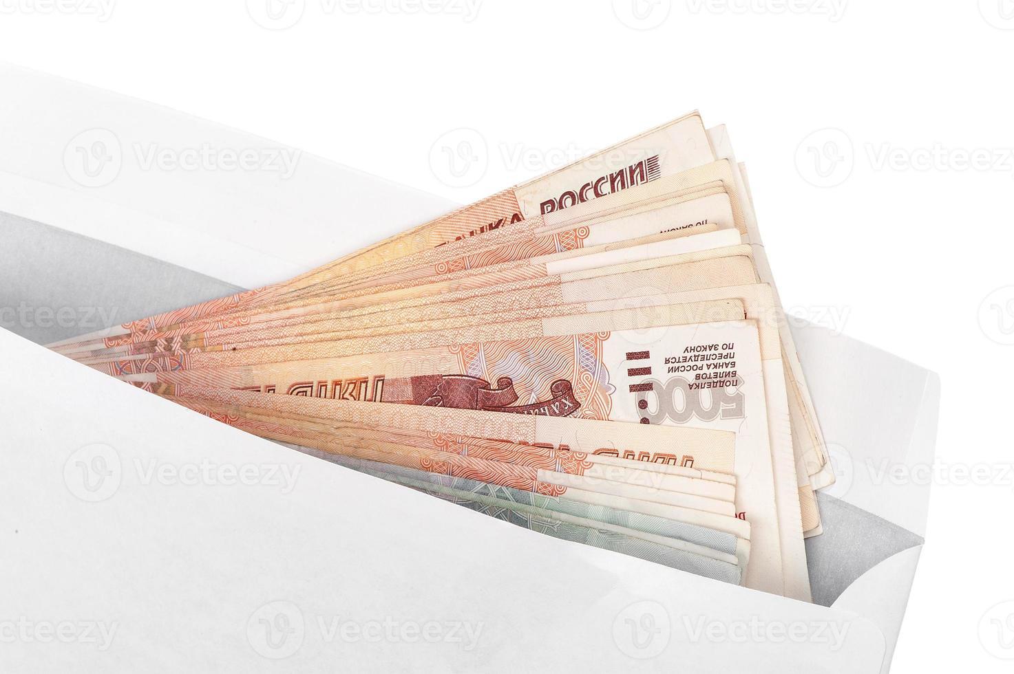 dinero en el sobre foto