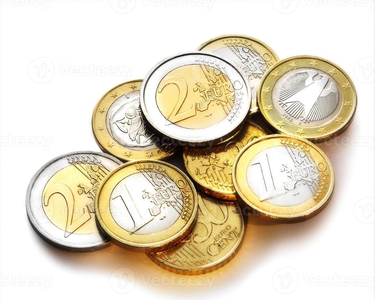 PILE OF EURO COINS photo