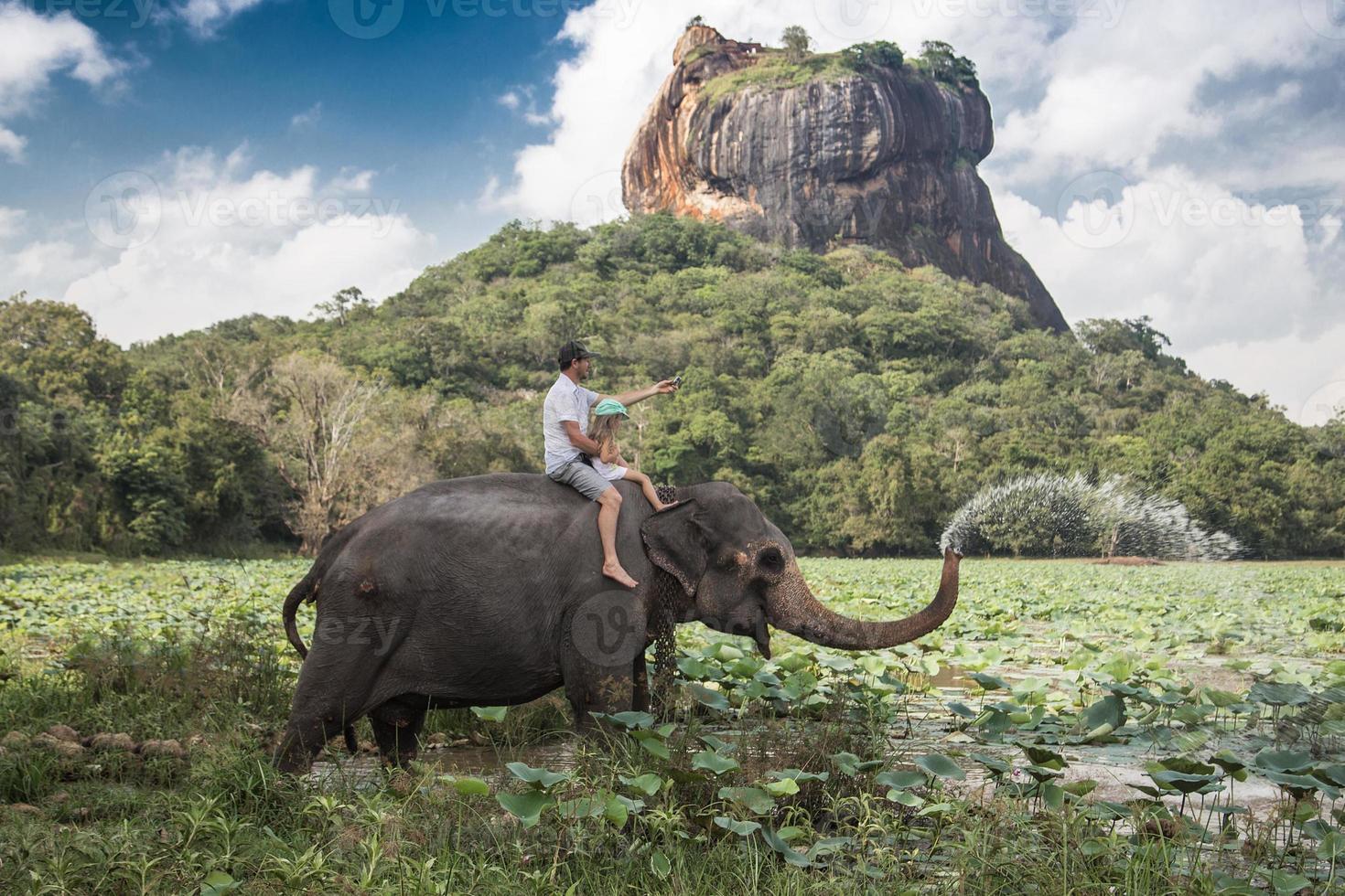 paseo en elefante foto