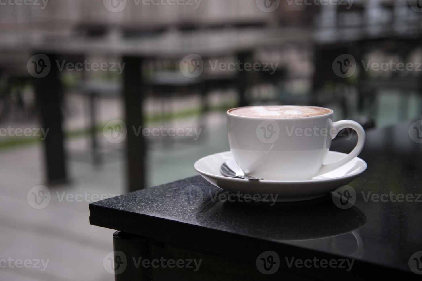 Latte Art coffee in coffee shop photo