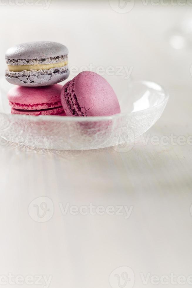 macarons macarrones con azúcar en polvo foto