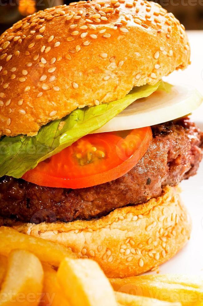 sándwich de hamburguesa clásica foto