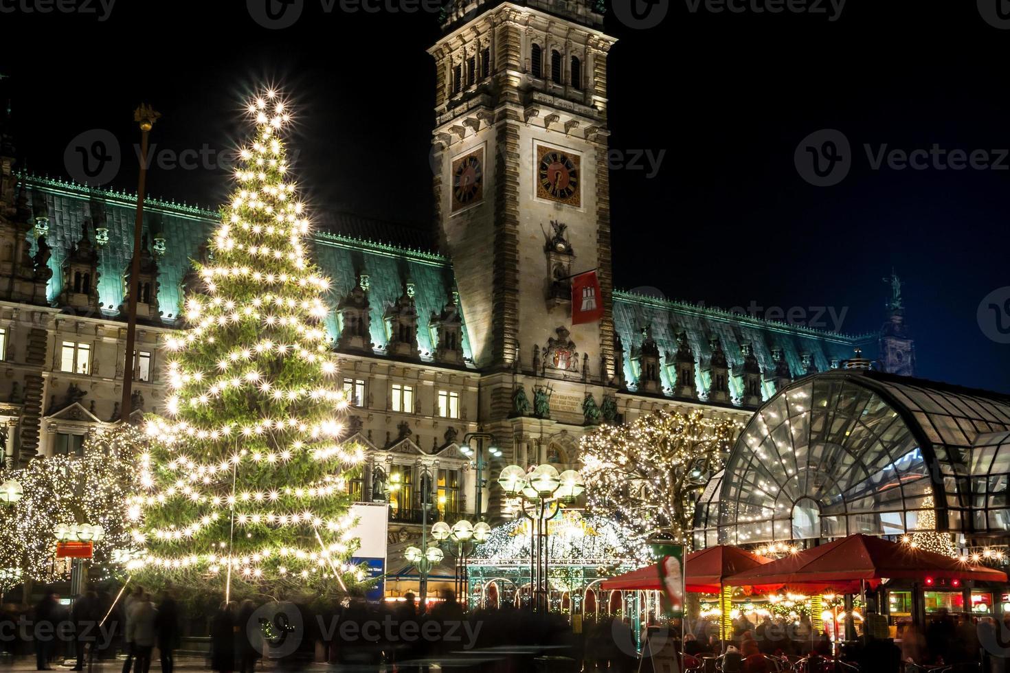 Hamburgo Weihnachtsmarkt, Alemania foto