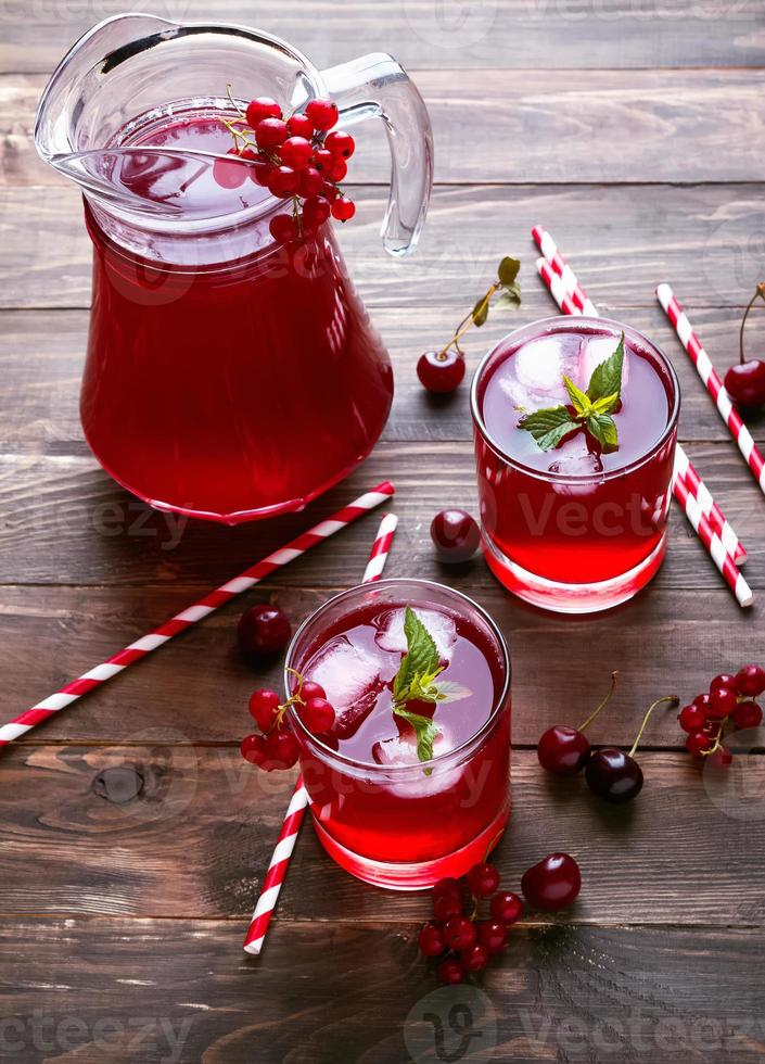 Cold berry drink photo