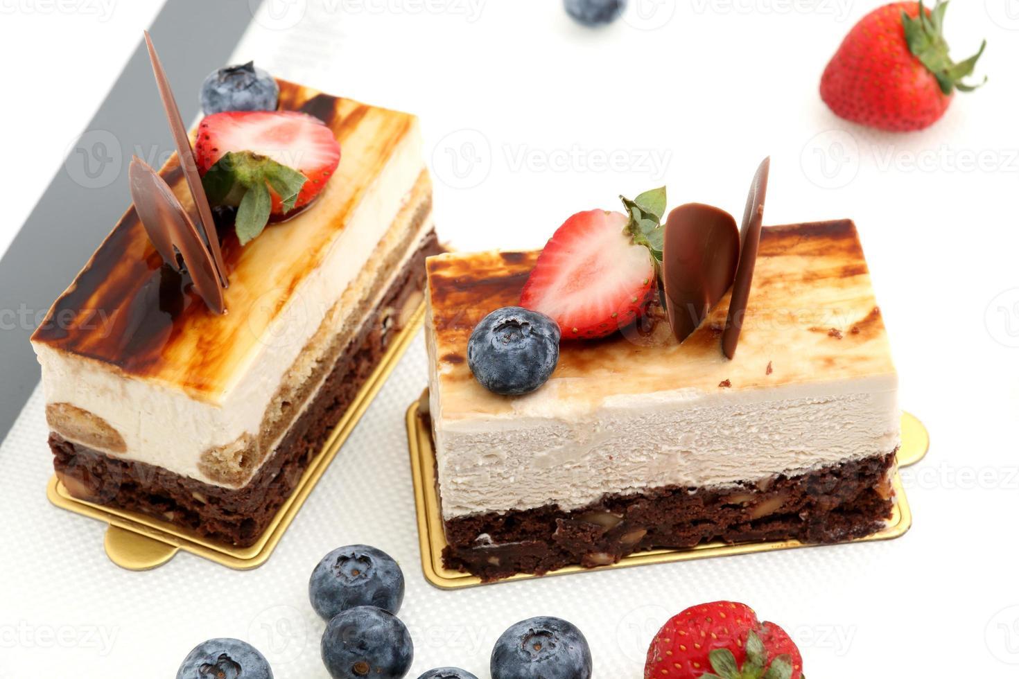 pastel de tiramisú brownie foto