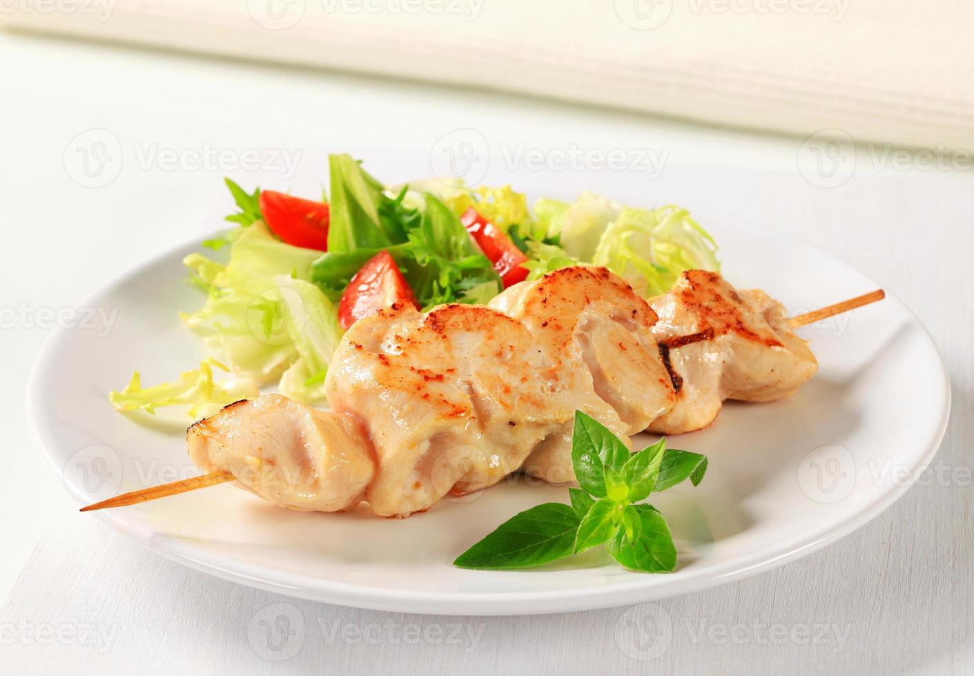 Chicken skewers photo
