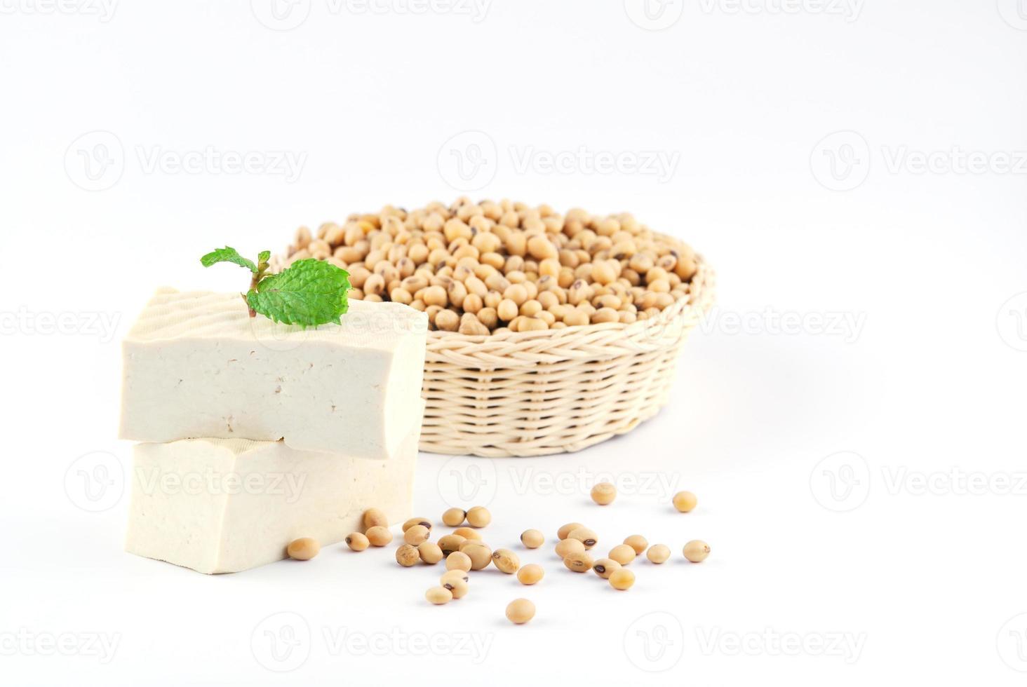 tofu y frijoles de soya foto