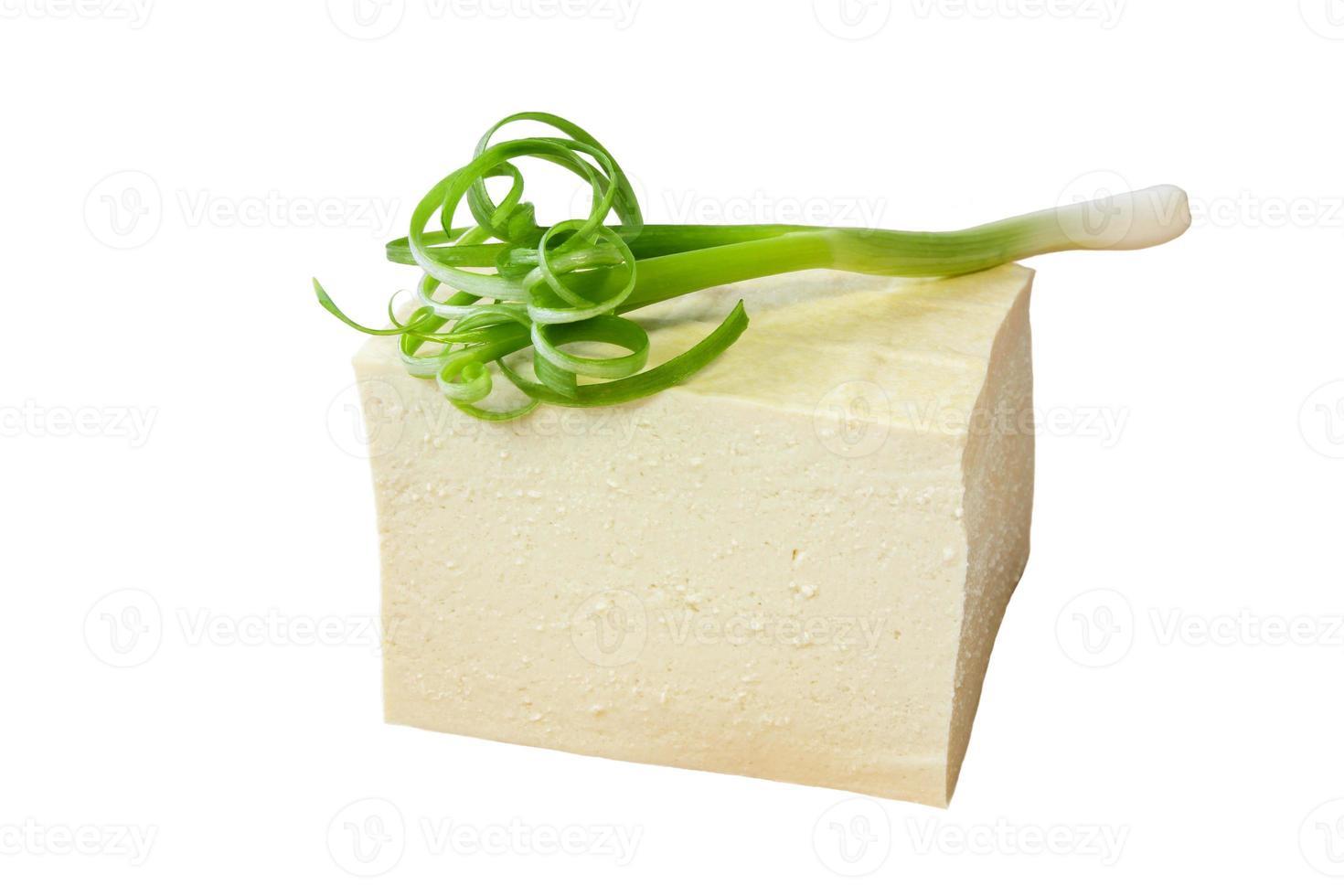 tofu y cebolla verde foto