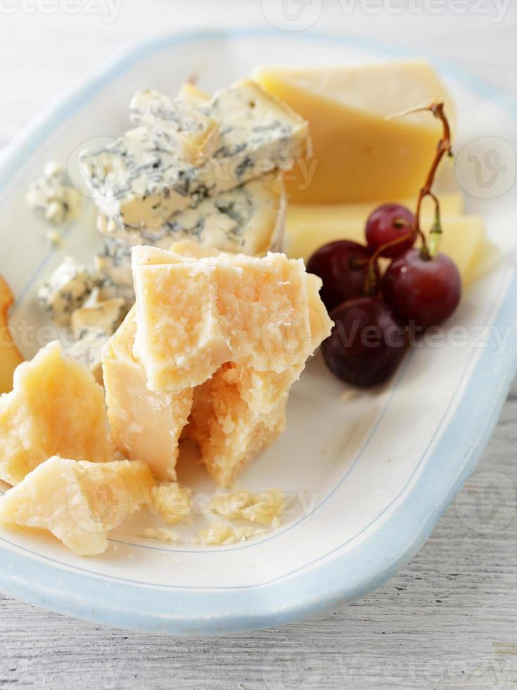 cheeses on plate photo