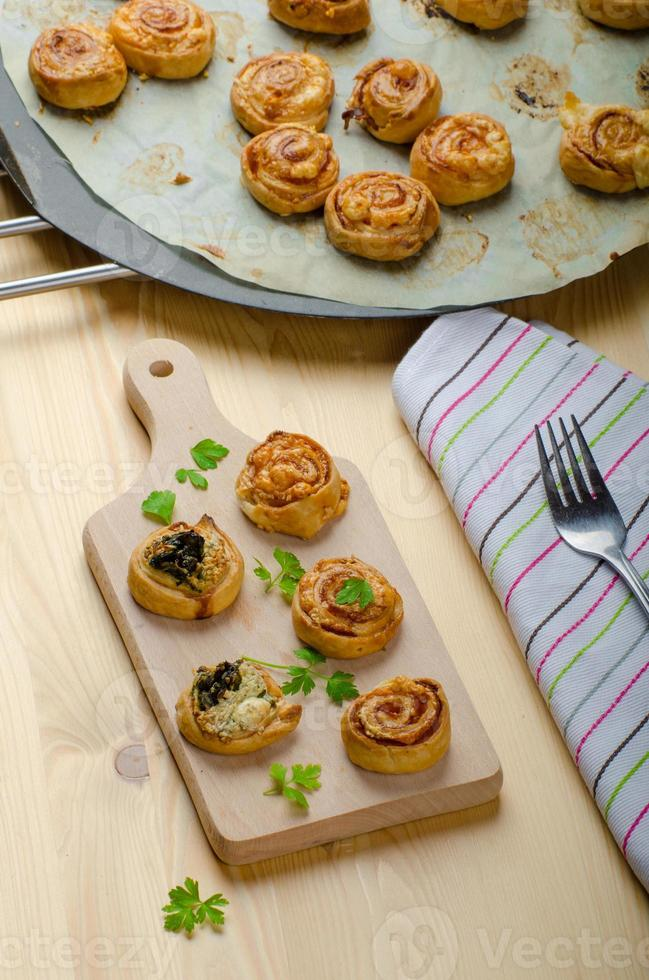 Canapés puff pastry photo
