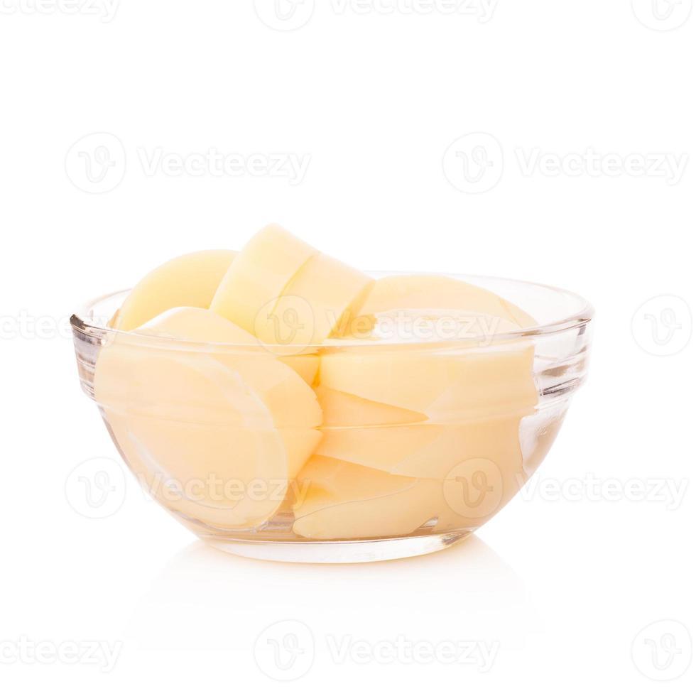 Egg Tofu on white background photo