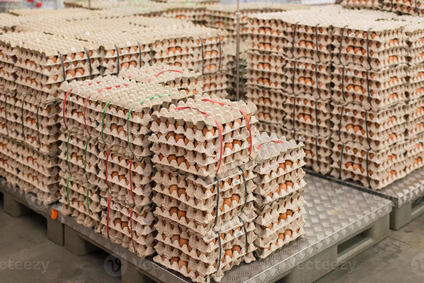 Eggs from chicken farm in the package photo