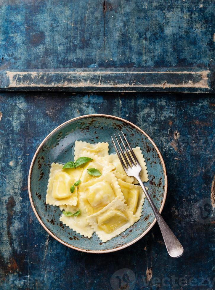 Ravioli pasta with mozzarella photo