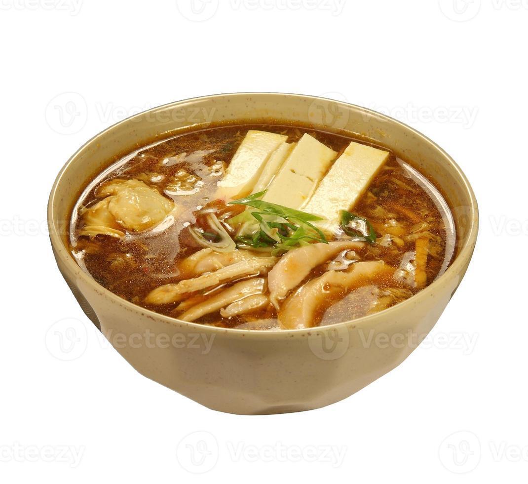 Sour-spicy soup (Korean soup) photo