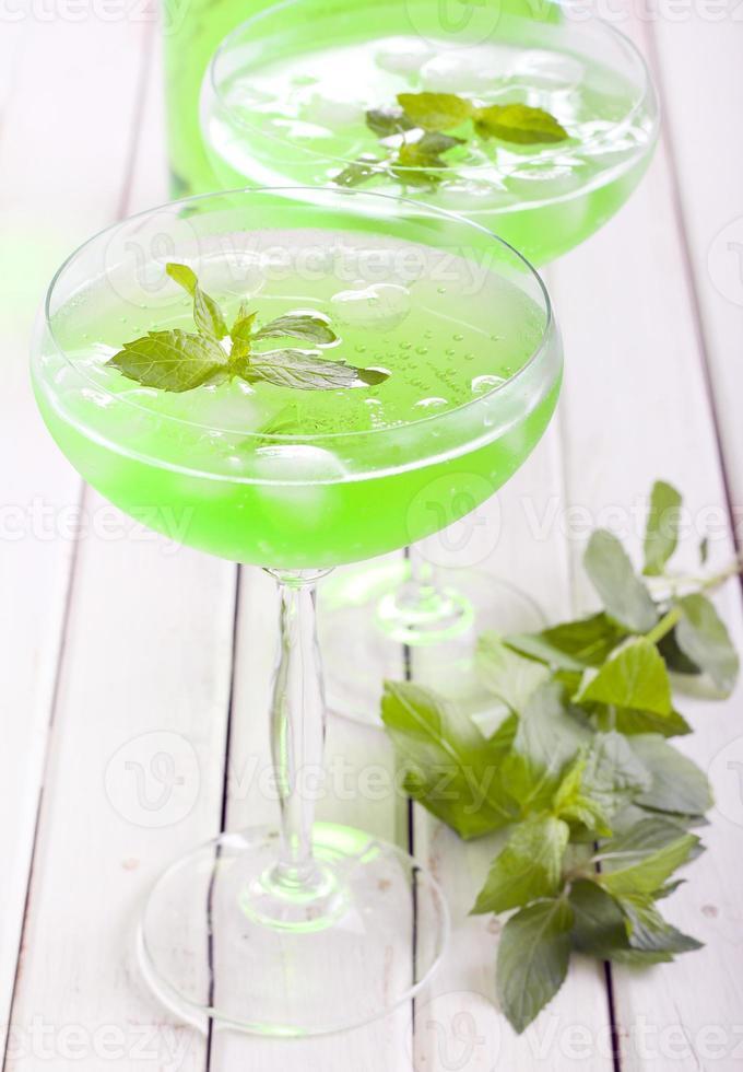 Mint spritzer in glasses photo