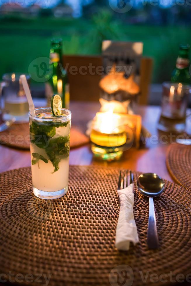 Mojito cocktail on the table photo