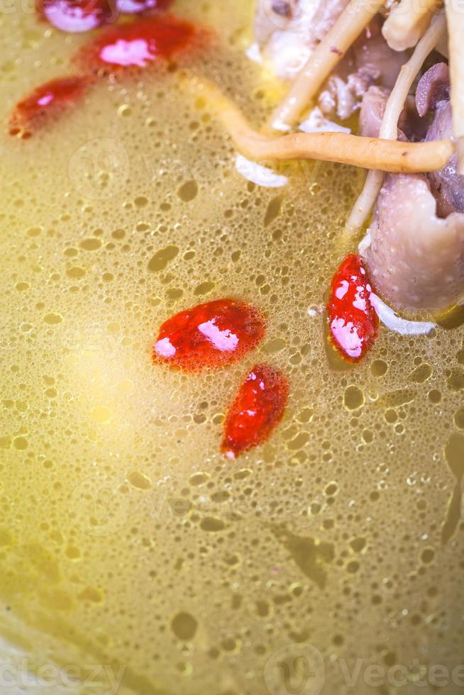 chicken soup with ginseng photo