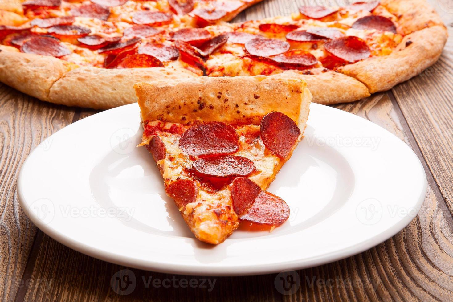 Delicious fresh pizza photo
