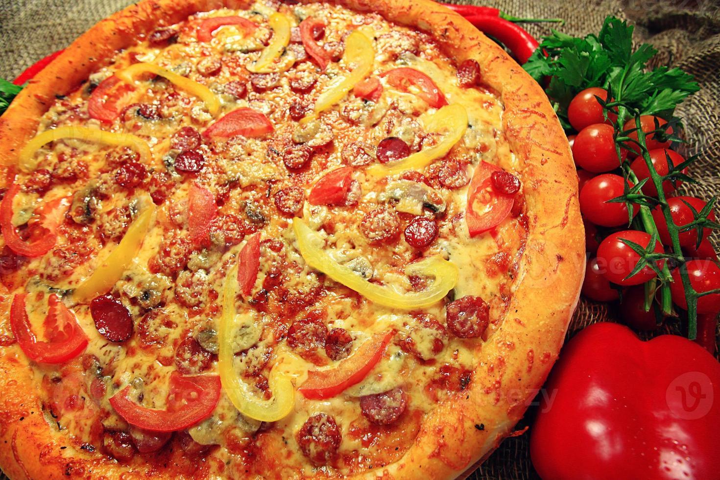 textura de pizza grande foto