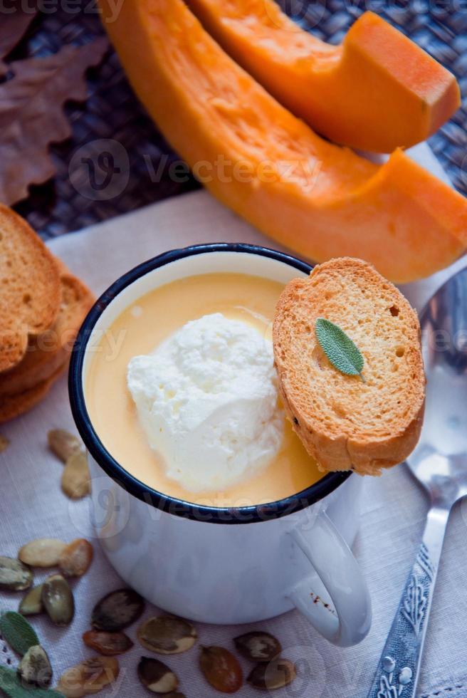 Pumpkin soup photo