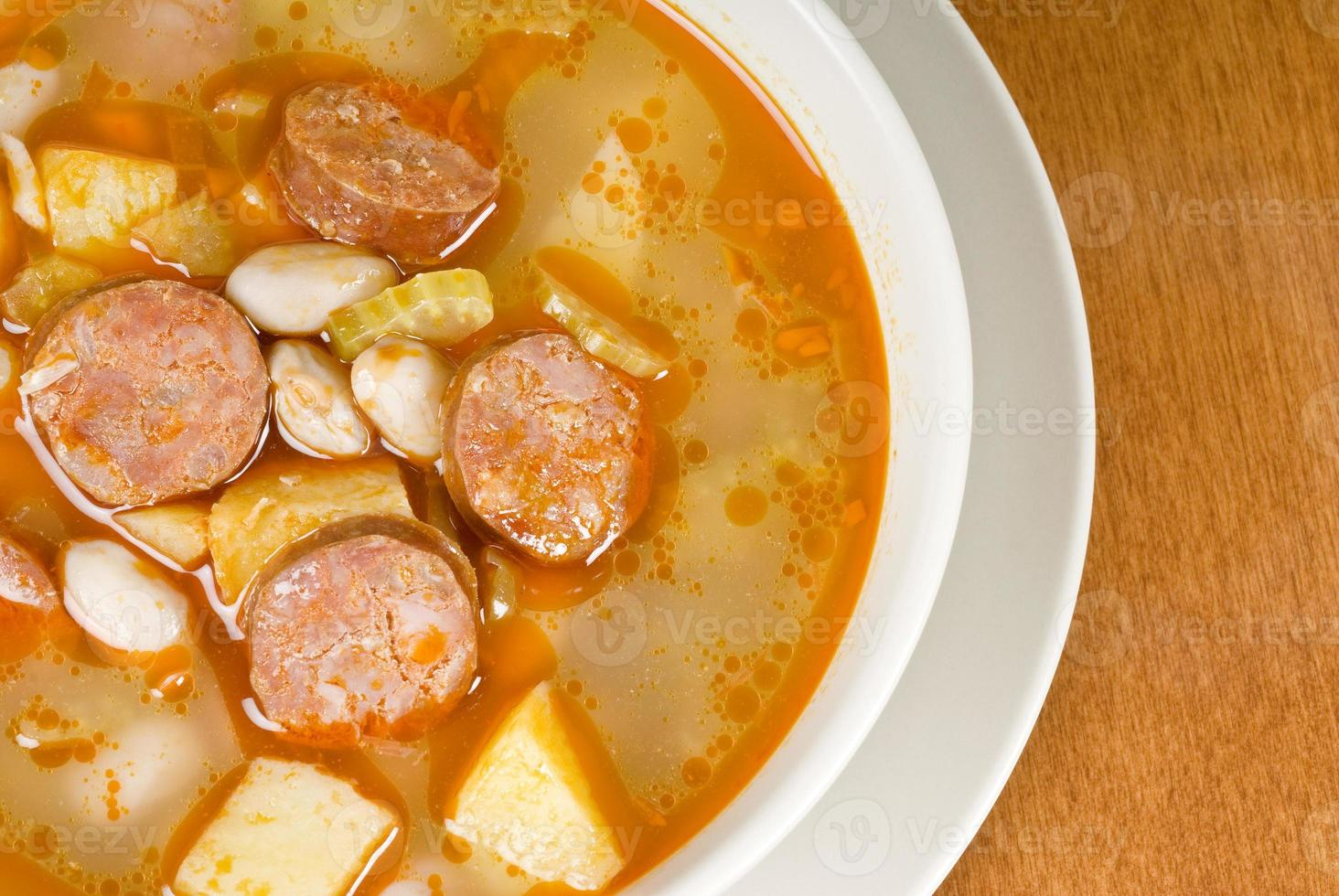 Romano Bean Soup with Sweet Sausages photo