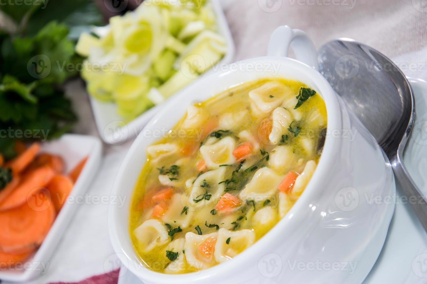 porción de sopa foto