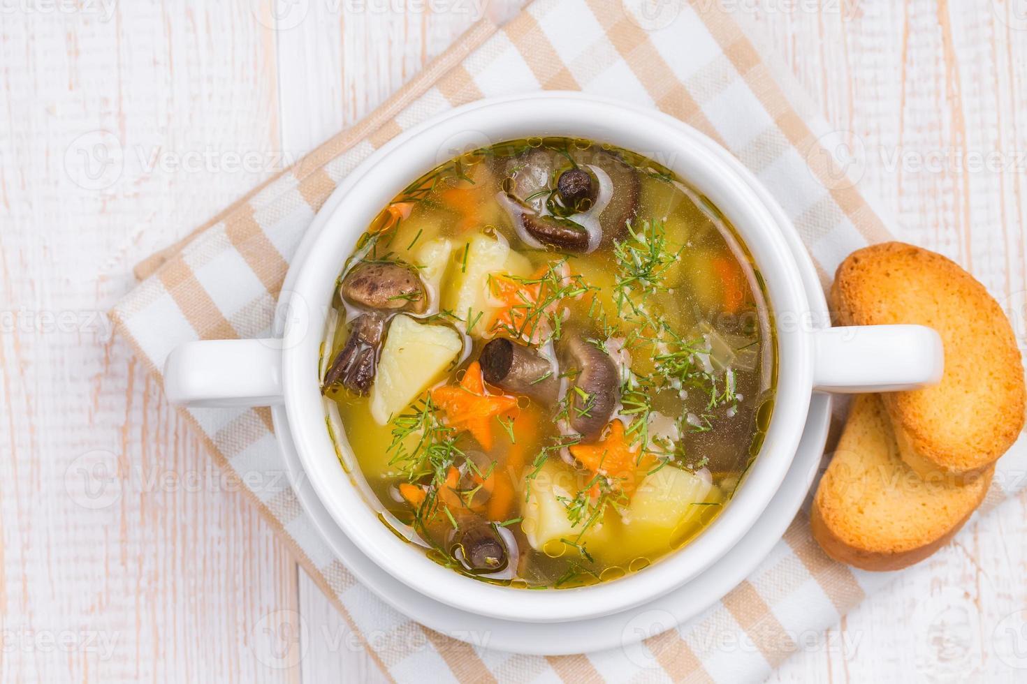 sopa de champiñones foto